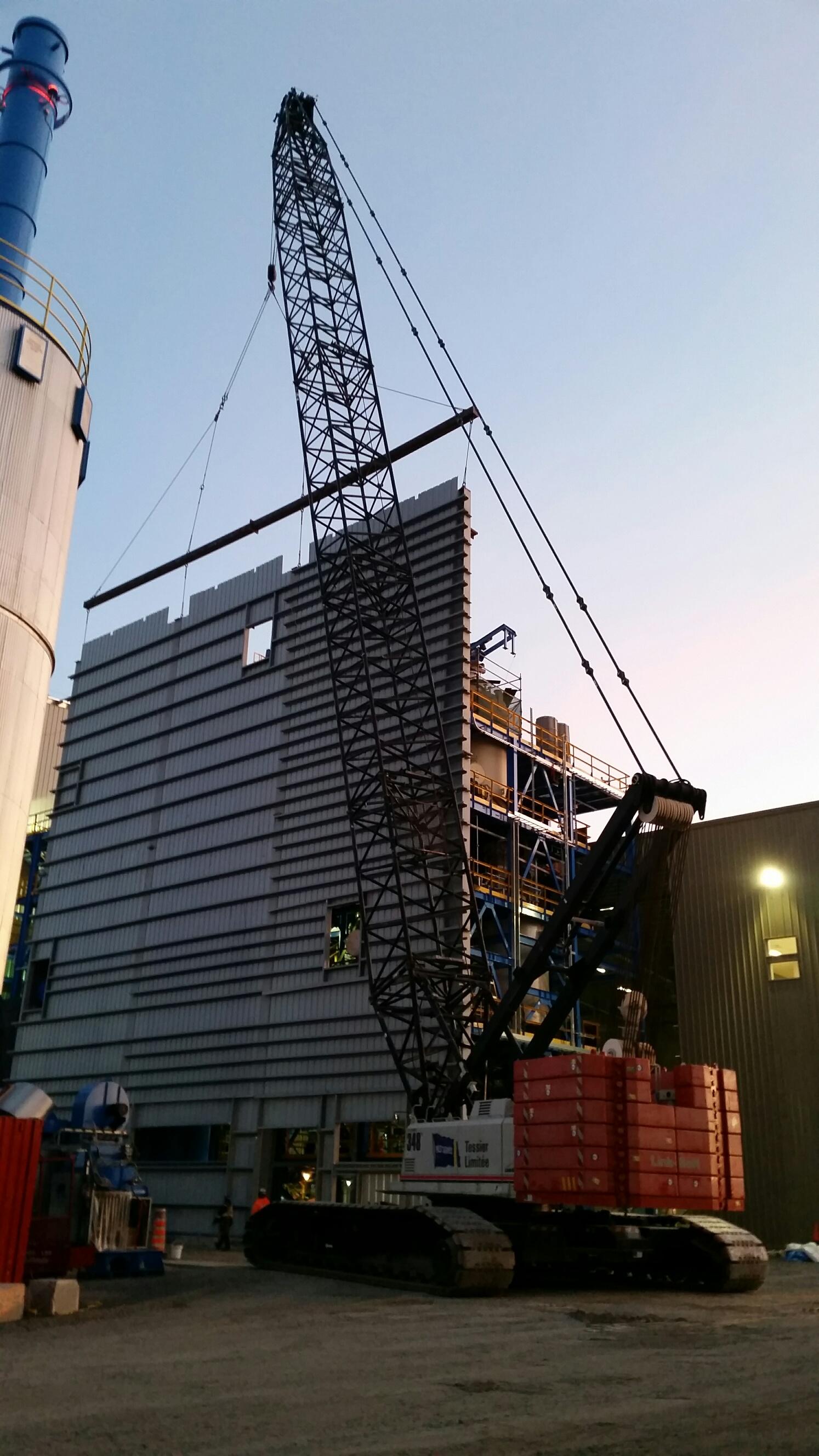 Construction d une nouvelle usine de bio carburant mur for Construction bio